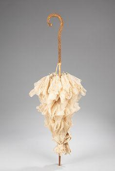 Parasol Made Of Silk, Wood, Metal And Synthetic - American   c.1885  -  The Metropolitan Museum Of Art