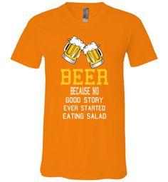 Grandma Gigi's Gifts ~ Products ~ Beer - Canvas Unisex V-Neck T-Shirt ~ Shopify #t-shirt #t-shirts #teeshirt #teeshirts #hoodie #hoodies #beer #alcohol #funny