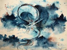 7/50 Paintings in 50 Days - Chinese Water Dragon - Shoshanna Bauer's Fine Art Blog