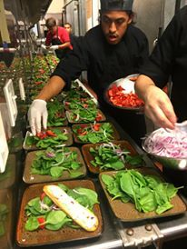 First course! Prepping salads for tonight's 50+ dinner for 626 Night Market.