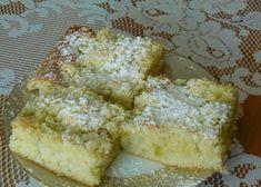 Hrnkový koláč s rebarborou recept - TopRecepty.cz Rhubarb Recipes, French Toast, Cheese, Baking, Breakfast, Cake, Sweet, Food, Morning Coffee