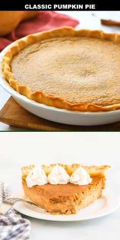 This rich, homemade pumpkin pie recipe boasts a creamy, delicious pumpkin filling baked in a flaky crust for a classic dessert. Old Fashioned Pumpkin Pie Recipe, Pumpkin Pie Crust Recipe, Classic Pumpkin Pie Recipe, Pumpkin Pie From Scratch, Dairy Free Pumpkin Pie, Perfect Pumpkin Pie, Best Pumpkin Pie, Pumpkin Pie Mix, Pumpkin Pie Smoothie
