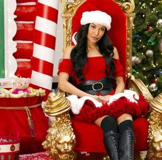 Santana as the hot Mrs. Santa