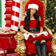 Santana as the hot Mrs. Santa