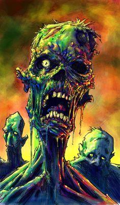 ✿ ZOMBIES ~ by *QuinteroART ~ http://QuinteroART.deviantart.com/art/ZOMBIES-123480117 ✿