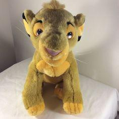 "Walt Disney Disneyland Plush 14"" Golden Simba Lion King Stuffed Animal Toy #Disney"
