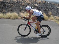 Denis Del Bianco riding in Kona.