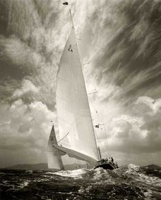Michael Kahn's stunning seascape and sailing images are available as handmade silver gelatin photographs and fine art pigment prints in limited edition. Beach Scene Pictures, Sailing Pictures, J Class Yacht, Classic Sailing, Sport Boats, Full Sail, Yacht Boat, Sail Away, Set Sail