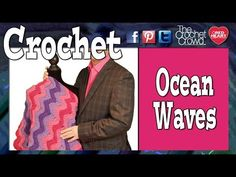 How To Crochet Ocean Waves Afghan - And the pattern is just the Ocean Waves, only I didn't go in back loops, and I did 2 rows of color and 1 row of white in between. Mikey has an awesome tutorial on it as well.