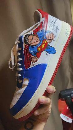 Behind The Scenes By yaskarakaya Custom Sneakers, Custom Shoes, Nike Shoes, Sneakers Nike, Denim Art, Nike Co, Trendy Shoes, Fashion Wear, Boy Outfits