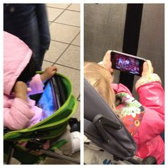 Babies with mobile devices