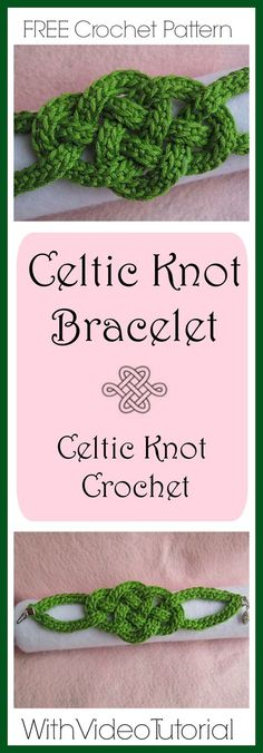 Celtic Knot Bracelet - Celtic Knot Crochet -Jennifer E Ryan - FREE crochet pattern with video tutorials