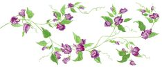 Purple Floral Decor PNG Transparent Clipart