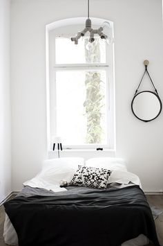 Interior Styling by Coco Lapine Design | Nordic Days  Scandinavian design, black and white Saana ja Olli pillow.