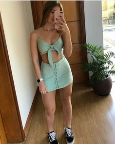 Trendy Outfits, Cool Outfits, Summer Outfits, Girl Fashion, Fashion Outfits, Womens Fashion, Fashion Trends, Skirt Outfits, Aesthetic Clothes