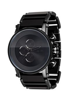 I bought this watch for my husband on our wedding day, to match his black tungsten wedding band.