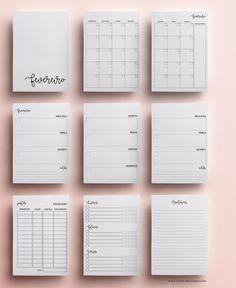 Download planner 2017, modelo minimalista com rotina fitness, controle de gastos, divisórias, anotações, wishlist, calendário 2017 etc.