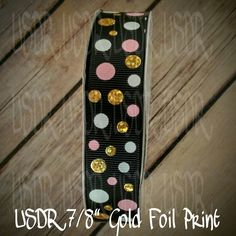 "USDR Valentine Sweet Tart collection 7/8"" grosgrain ribbon, Foil dots USDR, US Designer valentine ribbon, crafting supply, bow supply by JJsBowsTuTusAndMore on Etsy"