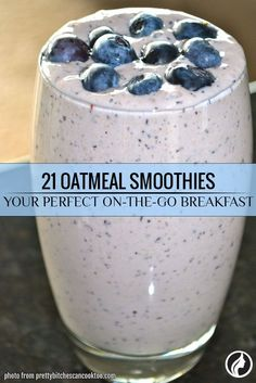 An oatmeal smoothie is very healthy because it contains much protein and fiber. Moreover, its taste is exceptional: once you try it, you will drink it every day.