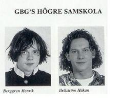Henrik Berggren & Håkan Hellström i gymnasiet