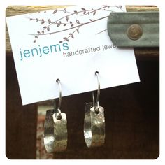 Hammered Fine Silver Horseshoe Hoops by jenjems on Etsy, $28.00