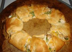 Weight Watchers Chicken Spinach Crescent Ring from Food.com:   								I created this recipe from ingredients i had!  Very yummy!  3pts per serving.