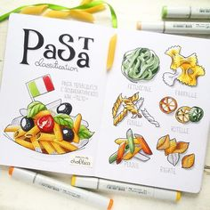 Pasta. Not as simple as it seems to be! Хотите сломать голову, порисуйте макароны! :)