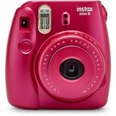 Fujifilm Instax Mini 8 Camera, Pomegranate Red ❤ liked on Polyvore featuring filler, tech and technology