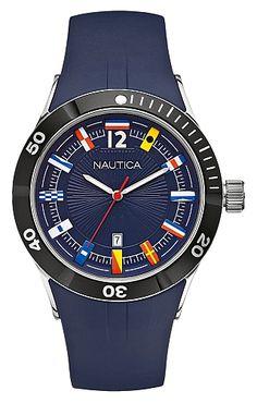 NAUTICA Nautical Flag Watch