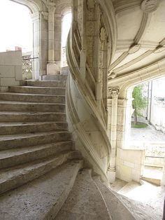 Stairs at Chateau de Blois, France