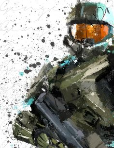 The Master Spartan // Impressionist Digital Painting by GingerZAP