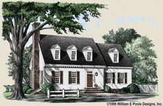 Simple.  Good layout. William E Poole Designs - Colonial Cottage