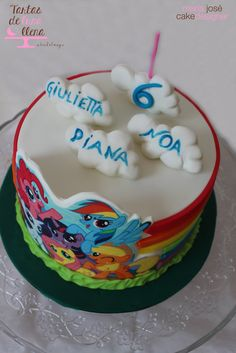 Tarta My Little Pony - My Little Pony Cake www.tartasdelunallena.blogspot.com