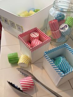 Easy Ways to Recycle – Recycling Information Motor Skills Activities, Infant Activities, Fine Motor Skills, Activities For Kids, Recycled Crafts, Diy And Crafts, Crafts For Kids, Ways To Recycle, Reuse Recycle