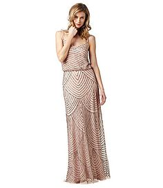 Adrianna Papell Beaded Gown #Dillards Not sure if I like it or not. Looked prettier on pinterest.