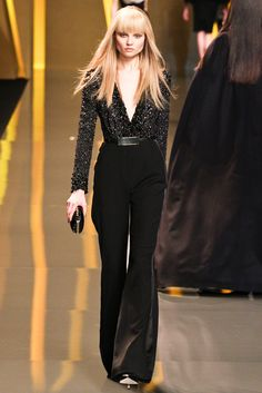 Elie Saab RTW. Emma Stone was perfect in this outfit, and I must say that no one makes a jumpsuit quite like Elie Saab.