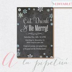 Christmas  Invitation Christmas Party Invitation by Pipetua
