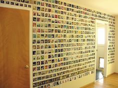 polaroid wall decoration - oh how I miss Polaroids!