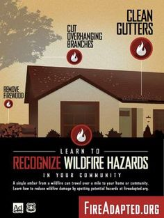 A Fire Adapted Community is one where its members understand and accept their wildfire risk and have taken pro-active steps to improve the safety and resilience of their homes, landscapes, and community assets to withstand a wildfire.  These PSAs empower residents to recognize hazards around their home that may be unsafe in the often inevitable event of a wildfire. http://www.fireadapted.org/