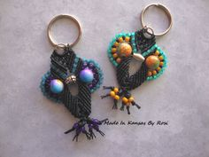 Micro-Macrame Owl Key Rings from Made In Kansas By Rosi... on facebook
