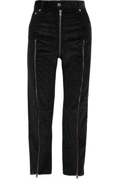 Vetements - Levi's Cropped Zip-detailed Corduroy Slim-leg Pants - Black - medium
