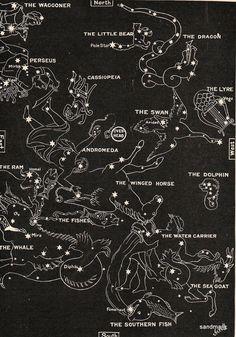 1902 Map Of The Stars Chart In Autumn Aquarius Aries Andromeda Perseus
