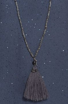 Fabiana Filippi Tassel Pendant Long Beaded Necklace | Nordstrom
