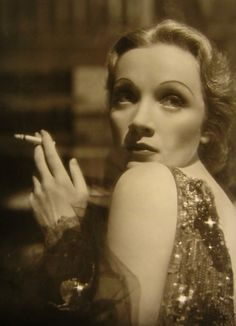 "On sadness:    ""Bitter in childhood, sweet in adolescence, tragic in old age.""    -Marlene Dietrich, quoted in Marlene Dietrich's ABC (photo circa 1937)"