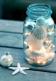 Christmas decor with shells
