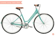 beautiful turquoise bike