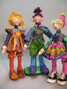 Magic Threads ~ Original Cloth Doll Patterns by Julie McCullough ~ I love her creations!