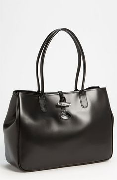 Longchamp 'Roseau' Shoulder Tote available at #Nordstrom I have this bag and I love it. Longchamp bags are so light and classic.