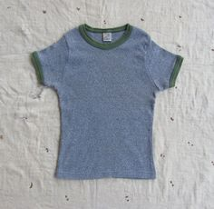 vintage c 1960s shrunken heathered gray ringer tee by MouseTrapVintage, $22.00