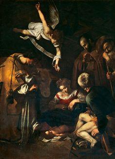 .:. Caravaggio 1609 Jezus szuletese - Palermo Oratorio di San Lorenzo.